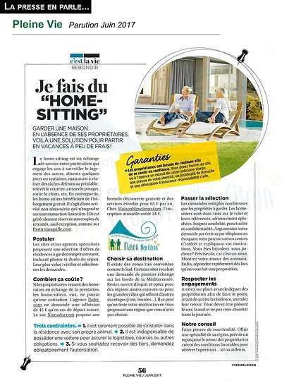 Home sitter : devenir gardien de maison article