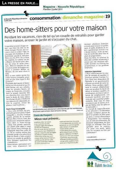 Home sitting : une formule sécurisée article